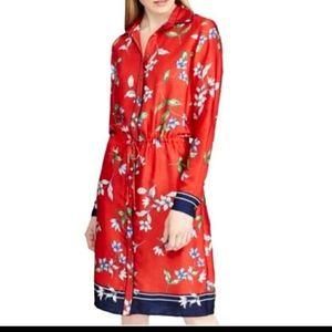 Ralph Lauren red floral long sleeve dress